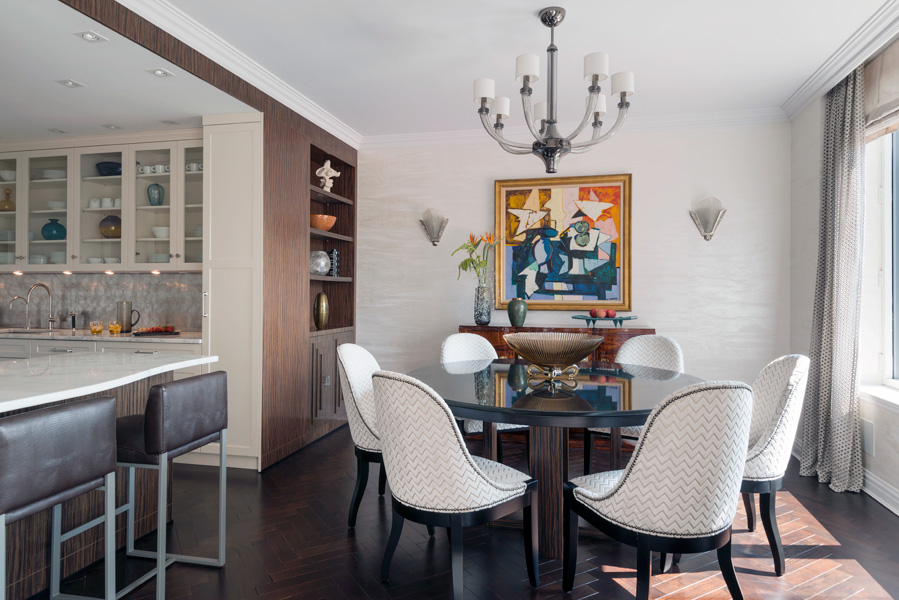 Central park west apartment interior design for W austin in room dining menu